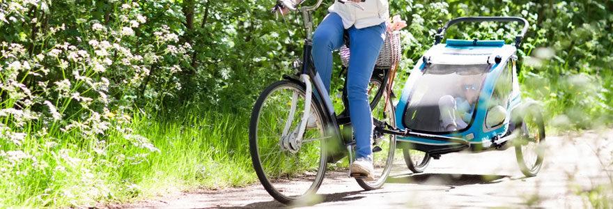 Remorque vélo bébé balade